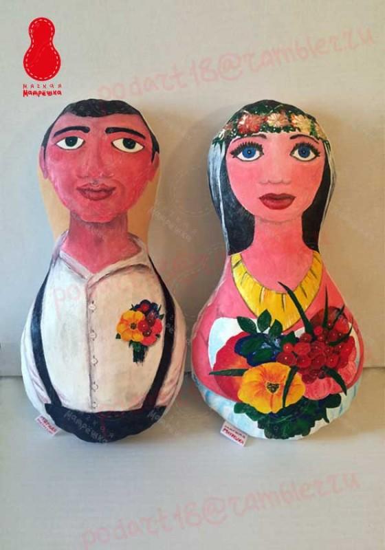 Мягкая Матрешка подушка Свадьба, Невеста и Жених