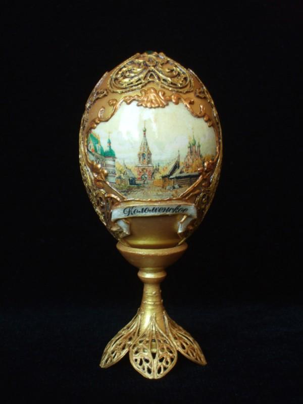 Пасхальное яйцо Московские усадьбы (золотое)ПРОДАНО