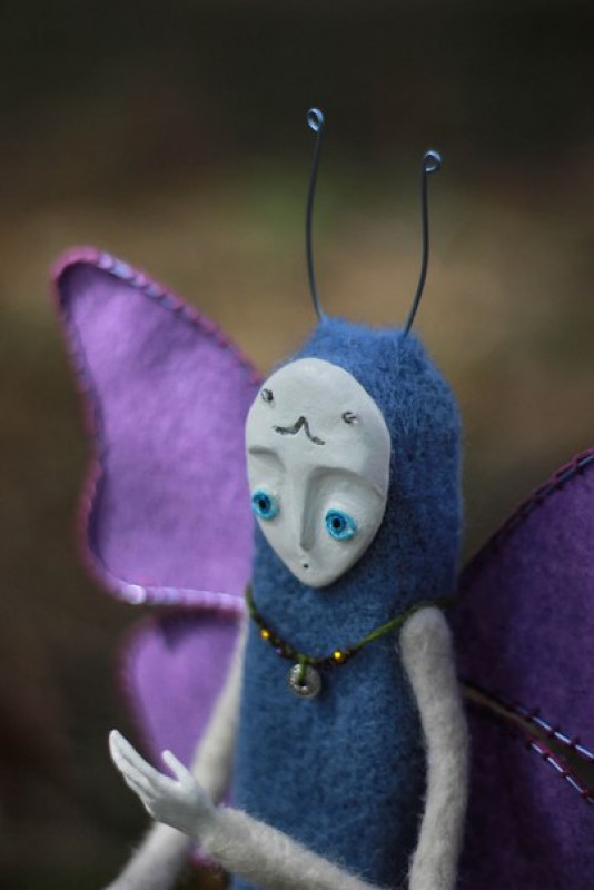 Бабочка лесная :) интерьерная кукла