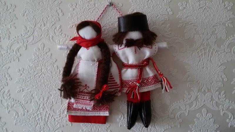 Свадебные обрядовые куклы Неразлучники