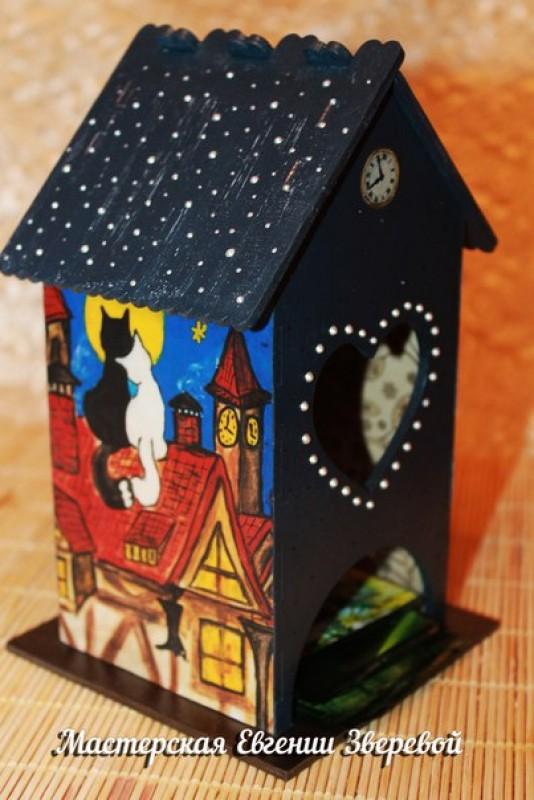 Чайный домик Кошки на крыше
