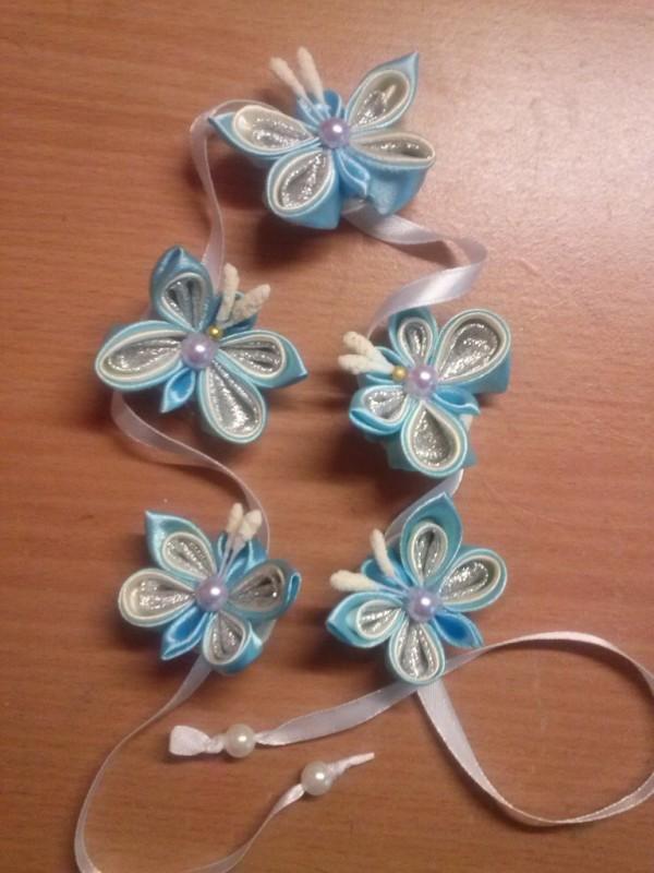 Лента для вплетения в косу Бабочки