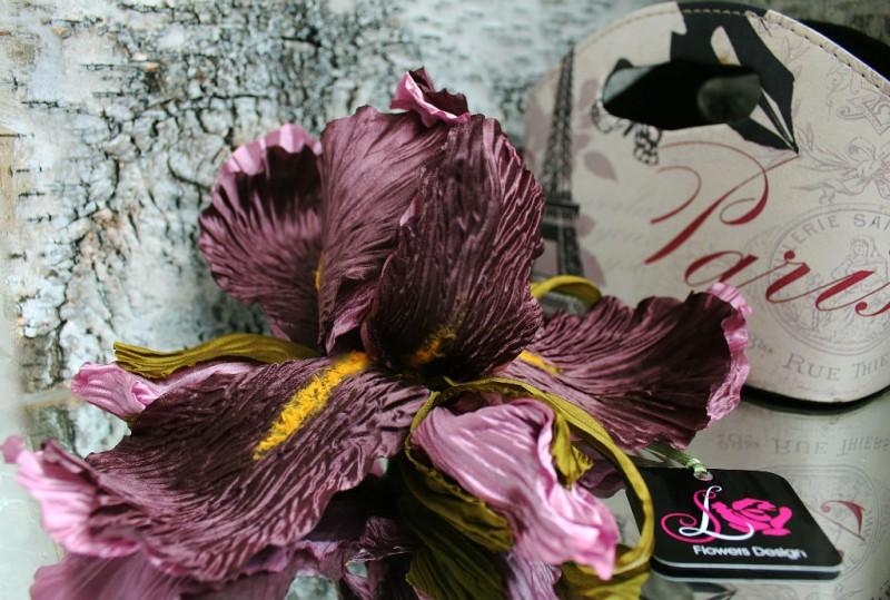 Цветы из ткани. Ирис «Шопен»