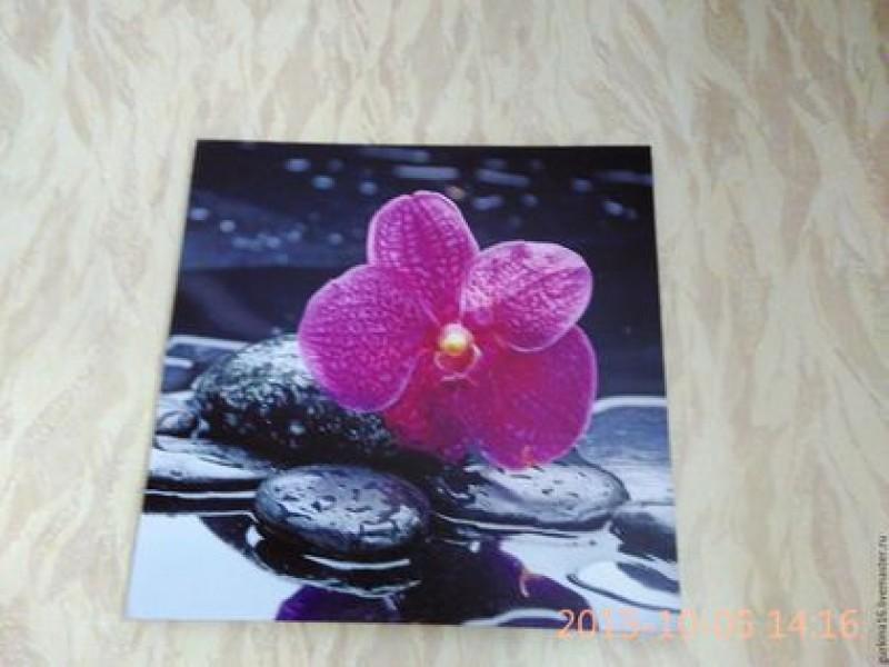 Для любителей орхидей  Картина на деревянной основе, качественная фотобумага