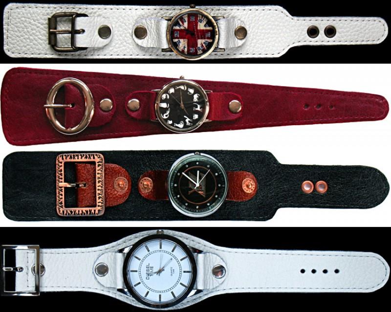 Кожаные браслеты для часов