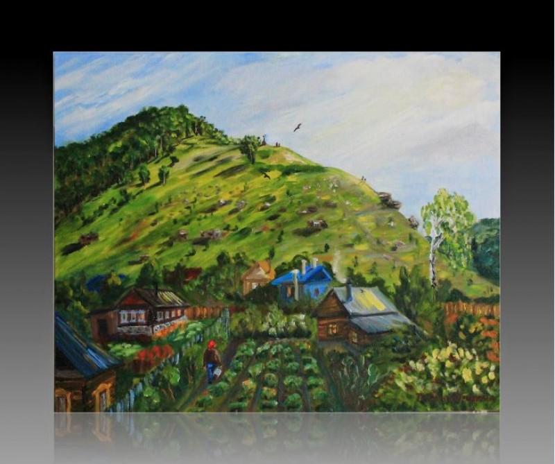 Авторская картина маслом Гора Монастырская в с.Ширяево (Самарская область, Жигулевский заповедник)