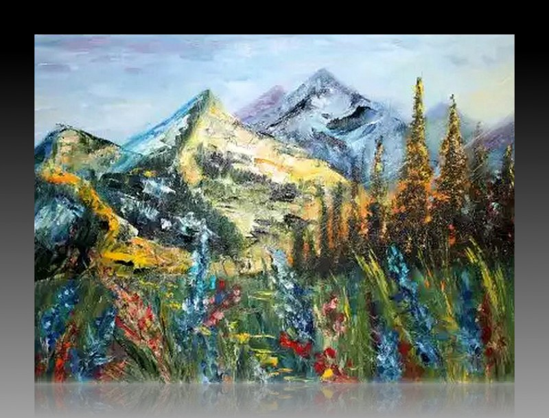 Авторская картина маслом Солнечная Гора
