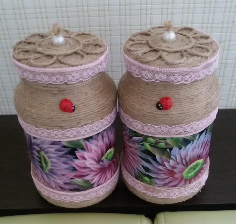 Набор баночек  для сыпучих. Можно использовать для продуктов...для специй,круп,макаронных изделий