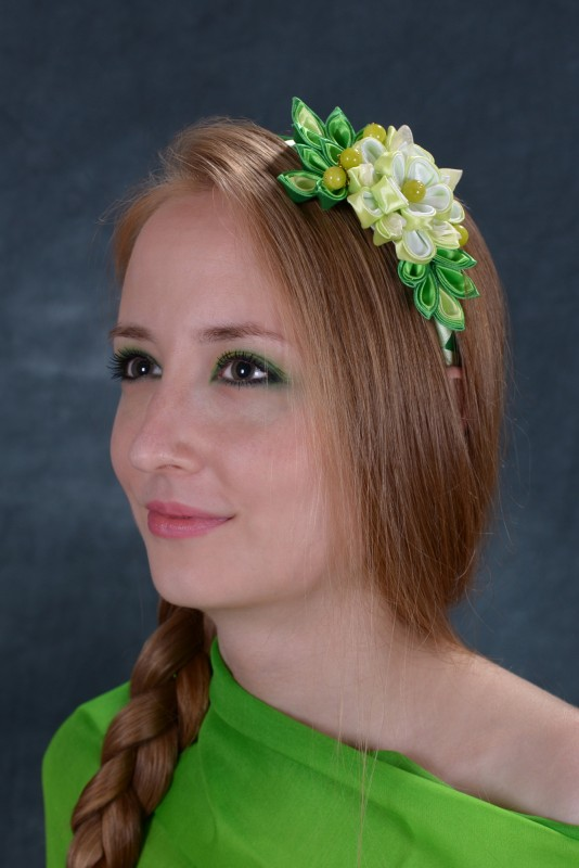 Ободок Зеленая фея