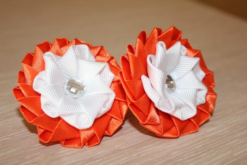 Резинки для волос Оранжевое лето