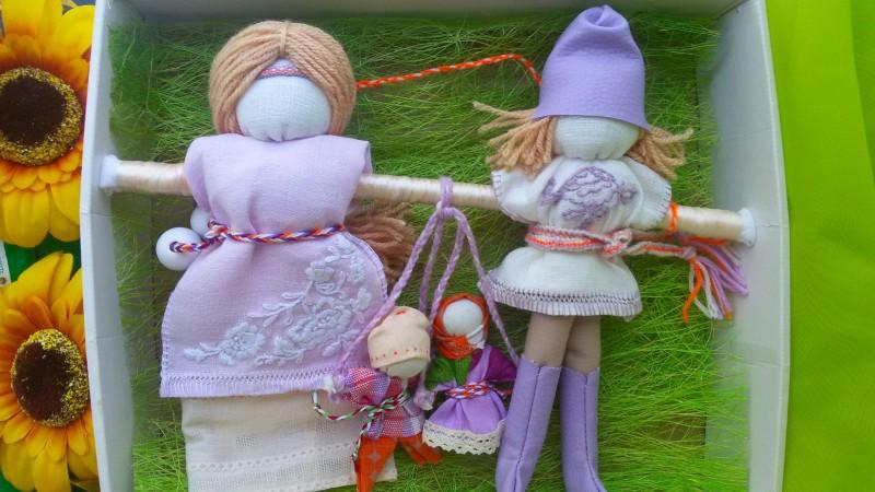 Народные куклы Неразлучники Семья