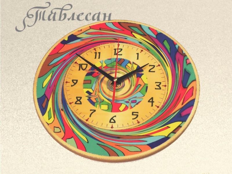 Настенные часы Спираль круглые
