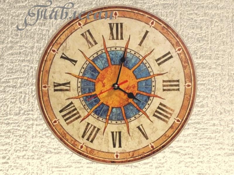 Часы настенные Солнце Италии круглые в гостиную