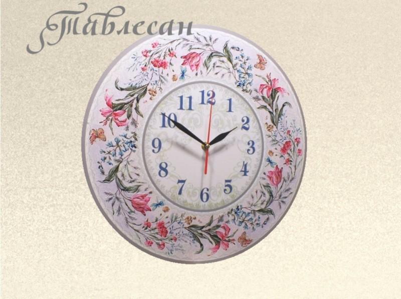 Настенные часы Первоцветный романс круглые