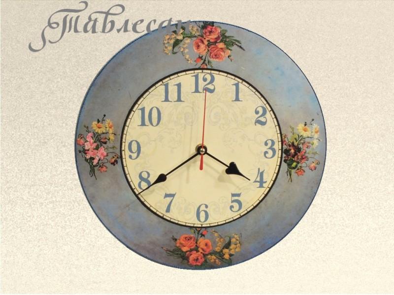 Настенные часы Винтажные букетики круглые