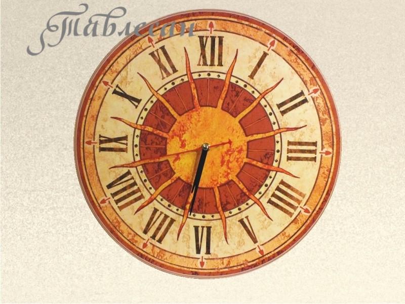 Часы настенные Солнце Италии круглые терракота