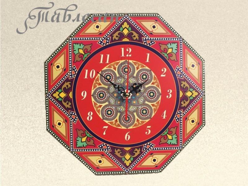 Часы настенные Жемчужная россыпь в красных тонах