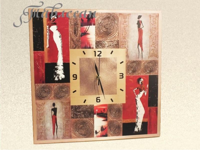 Часы настенные  В знойной жаркой Африке в стиле этно в гостиную