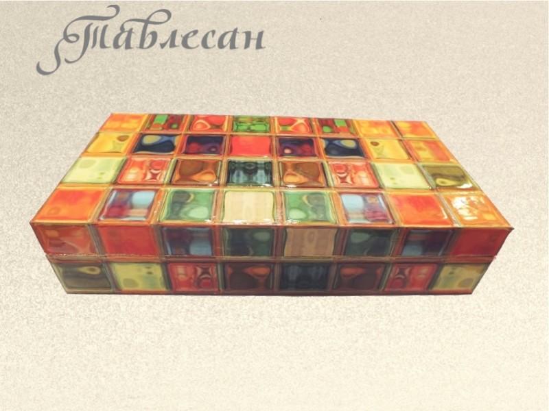 Купюрница (шкатулка для денег) Радужные переливы декупаж