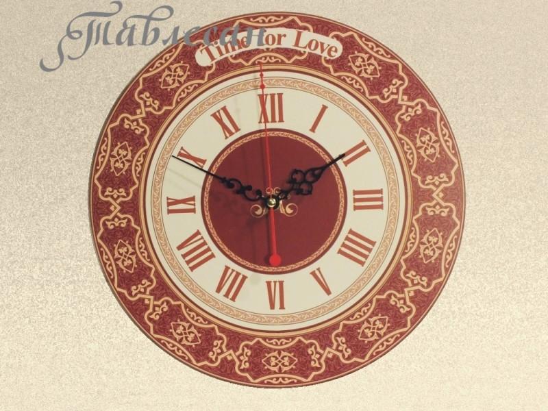 Часы настенные Время любить бордовые