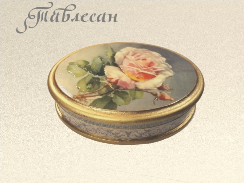 Шкатулка винтажная Роза декупаж для женщины