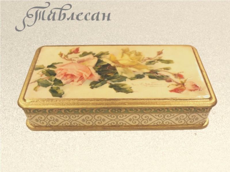 Купюрница (Шкатулка для денег) Букет роз для женщины декупаж
