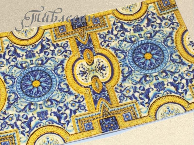Обложка для паспорта Флорентина синяя кожа