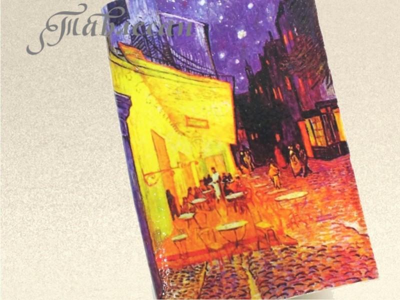 Обложка для паспорта Ночная терраса кафе. Ван Гог  кожа