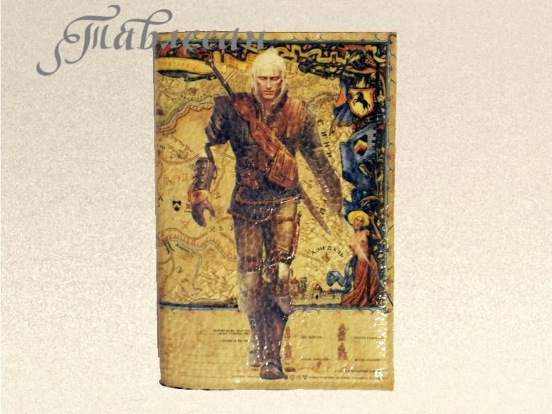 Обложка для паспорта Ведьмак 3 Дикая Охота  кожа