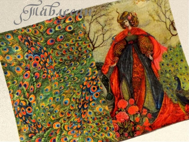 Обложка для паспорта Фея летней сказки с павлином кожа