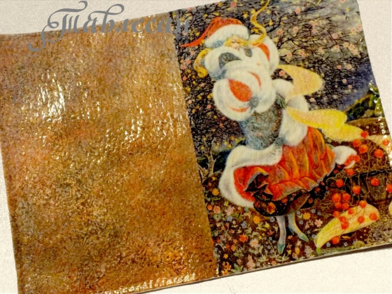 Обложка для паспорта Фея зимней сказки кожа