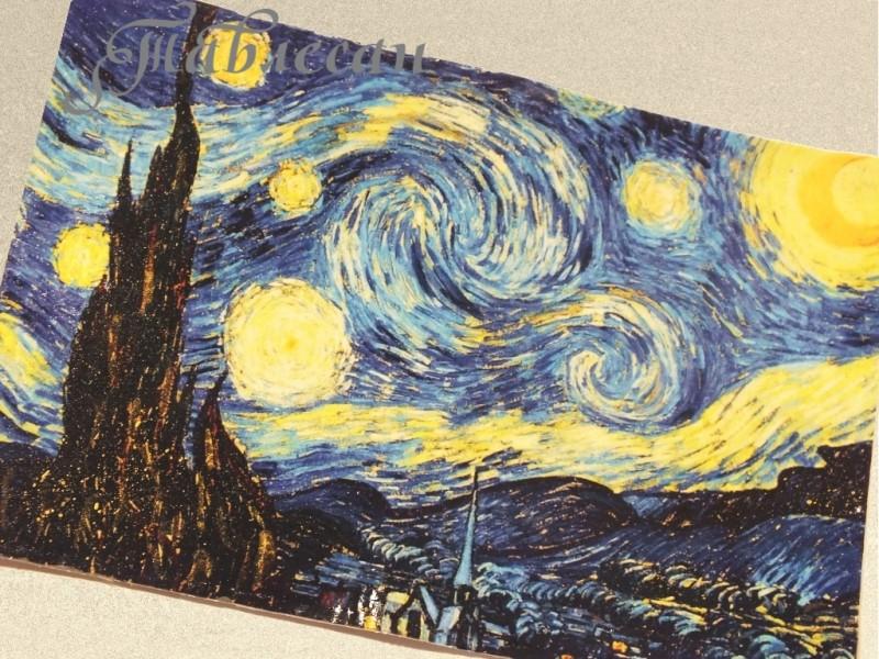 Обложка для паспорта, автодокументов Звездная ночь кожа