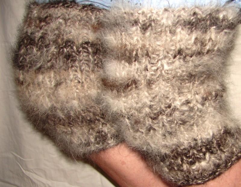 Наколенники из собачьей шерсти арт №118н для суставов .