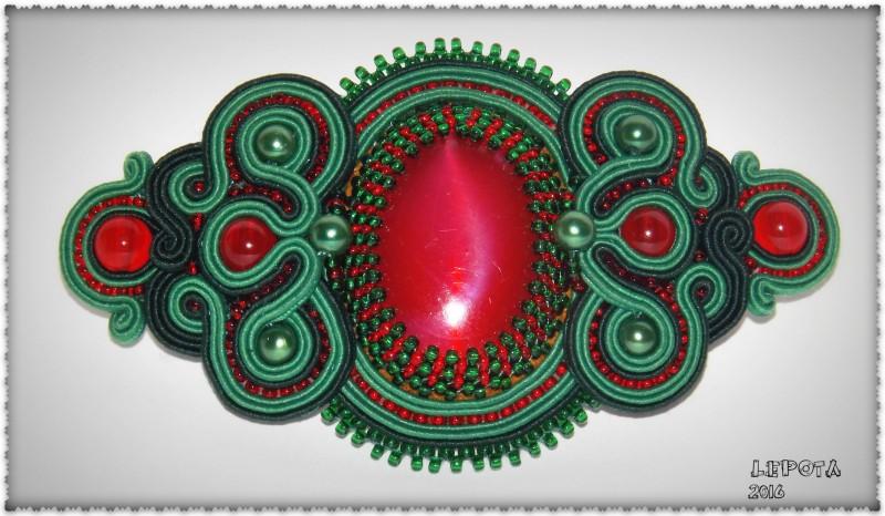 Заколка-автомат  Лесная ягода