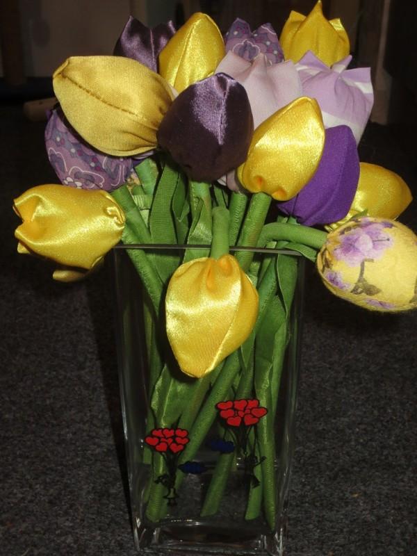 Текстильные цветы от Vermontti