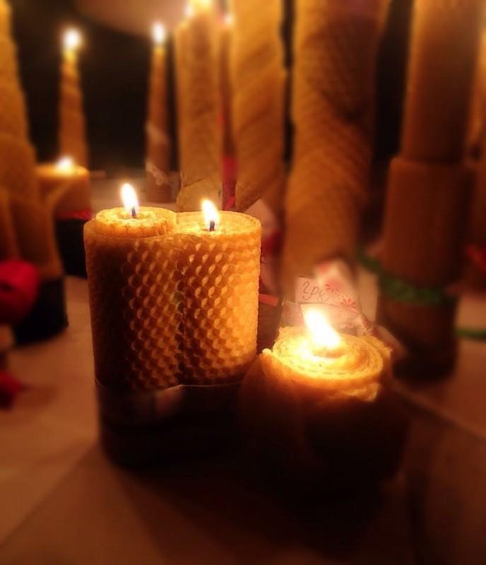 Свечи из вощины ручной работы