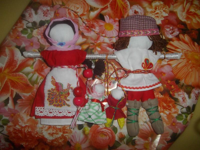 Славянские свадебные обережные куклы Неразлучники Жар-Птица
