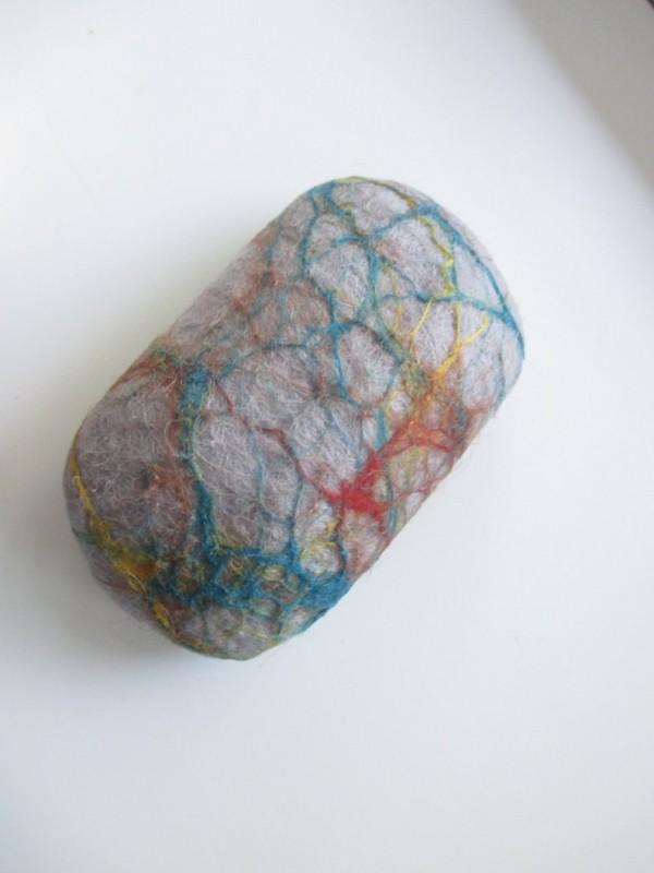 Мыло мочалка Серые камни из войлока