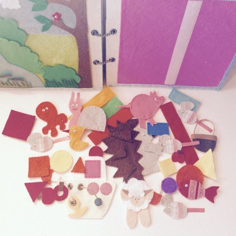 Детская развивающая книжка-игрушка
