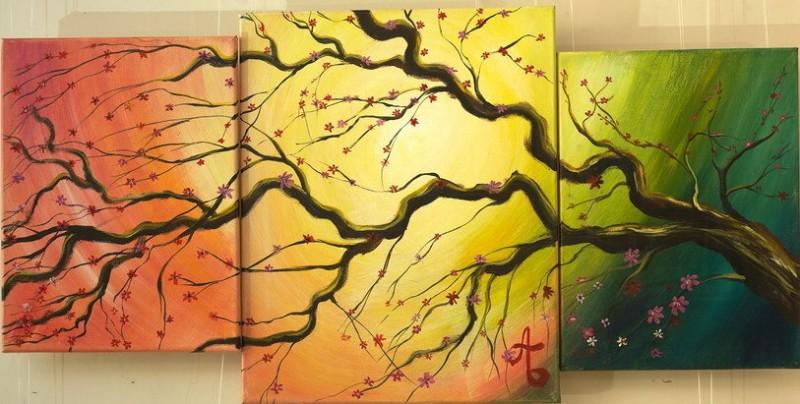 Авторская картина маслом Дерево любви