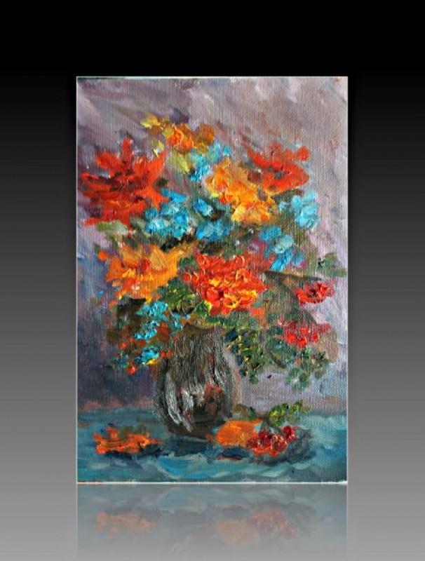 Авторская картина Осенний букет