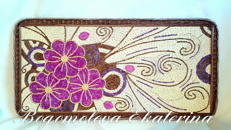 Мозаичное панно из бумажной лозы