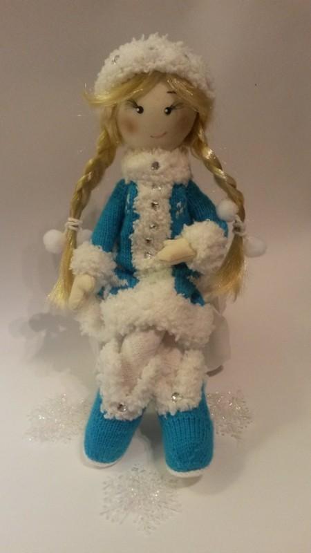 Текстильная кукла Снегурочка