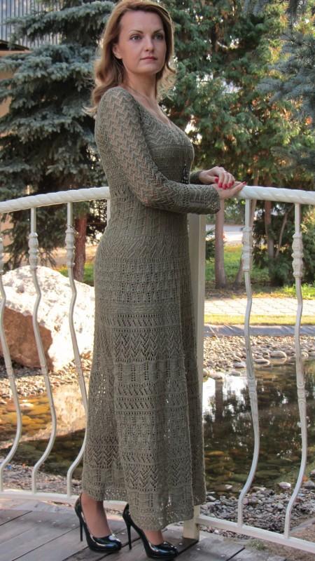 Вязаное ажурное платье Оливия