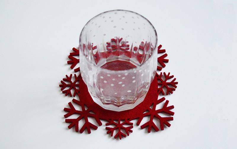 Новогодние подставки под стаканы