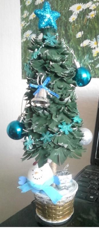 Новогодняя ёлка со снеговиком