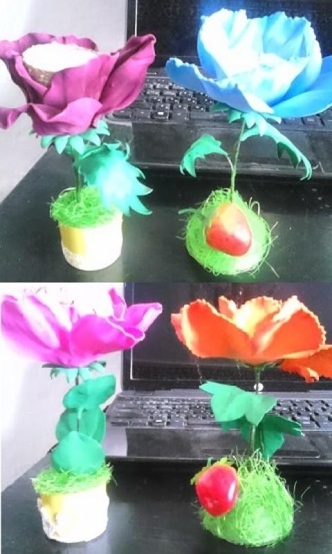 Цветы - мини подсвечники