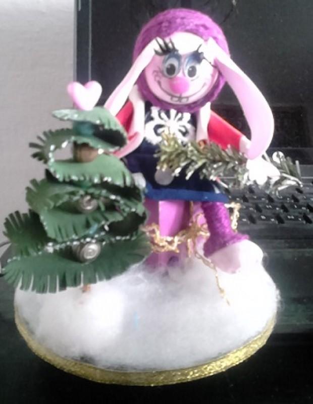 Новогодний сувенир Зайка