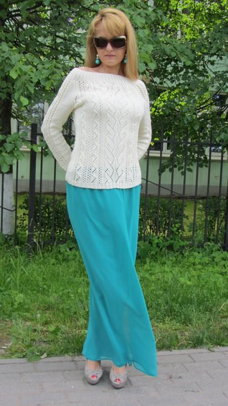 Вязаный пуловер Гармония