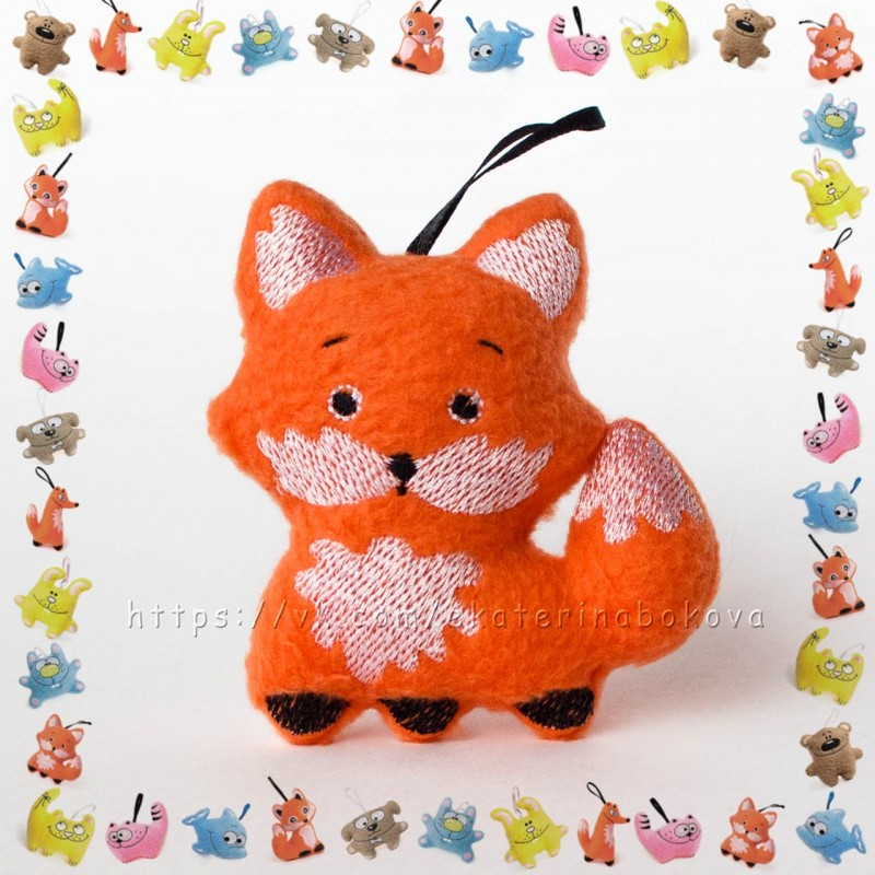 Мягкая игрушка-сувенир Лисичка